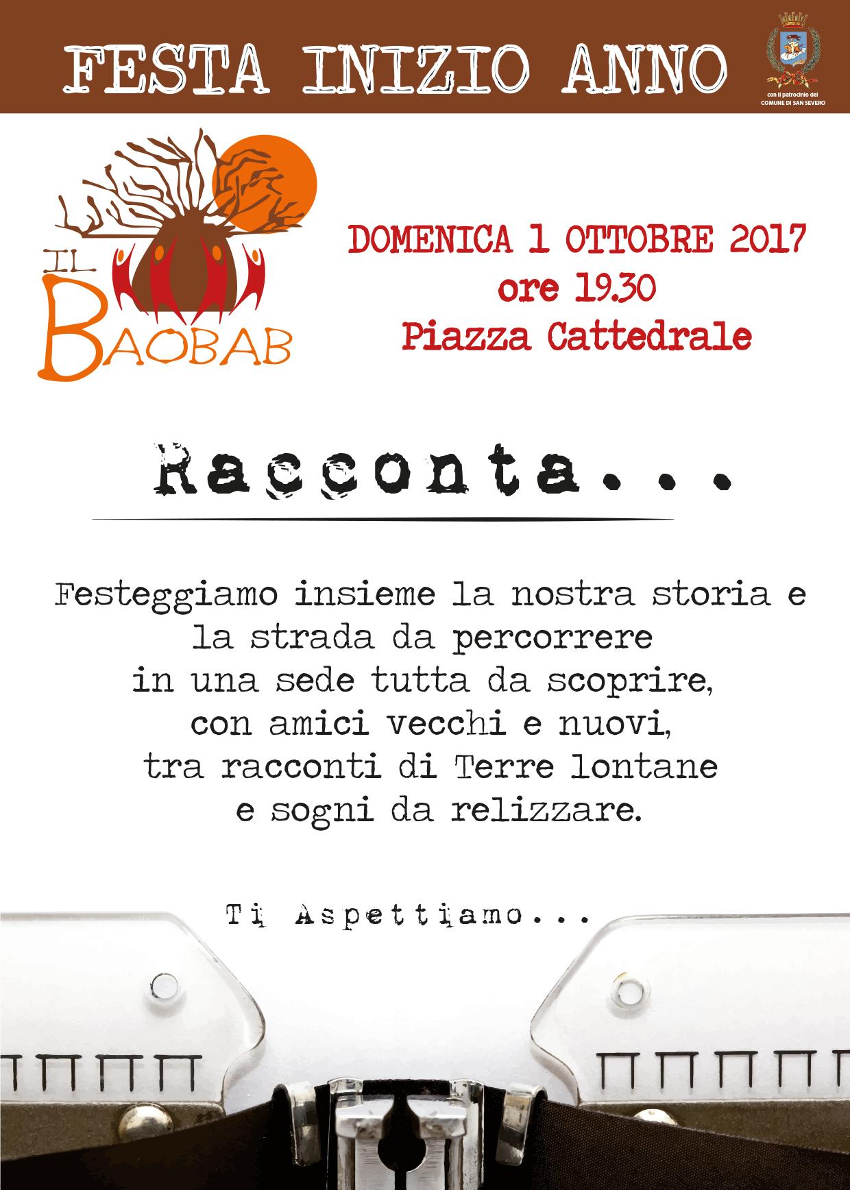 IL BAOBAB RACCONTA - FESTA DI INIZIO ANNO